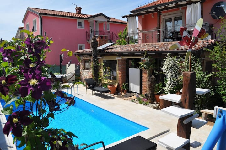 One bedroom apartment with terrace Fratrici, Umag (A-14384-b)