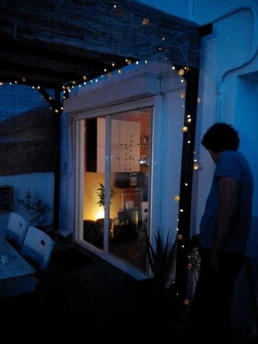Terrace at night/terraza de noche