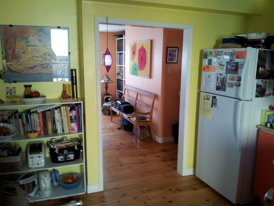 Connection between kitchen and living room.