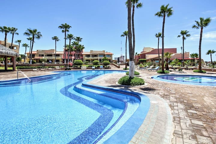 Located in the Marina Pinacate Resort, you can look forward to beachfront access along with an abundance of resort amenities.