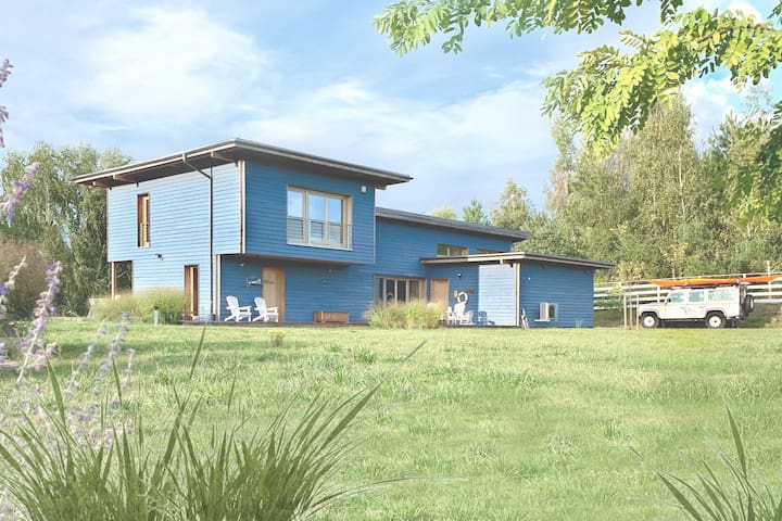 Blue Lakehouse for 8 guests (kayak, bikes, SUP)