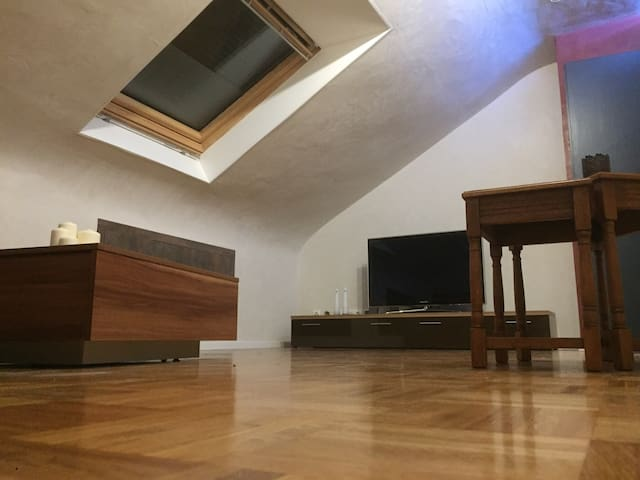 Big Attic Sleep Room with share Bathroom & Kitchen
