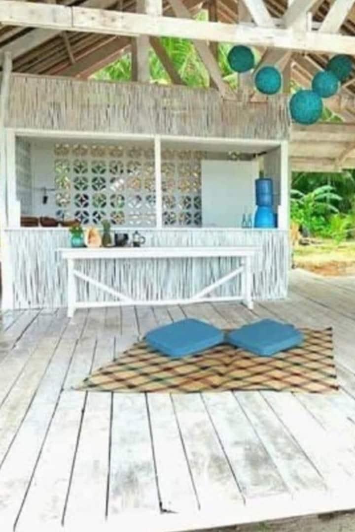 Private beach shack