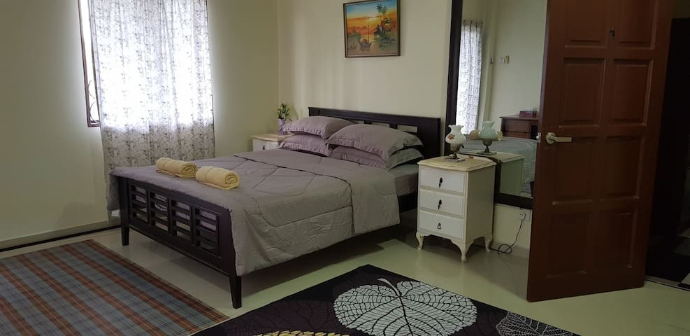 Master bedroom- very spacious with balcony