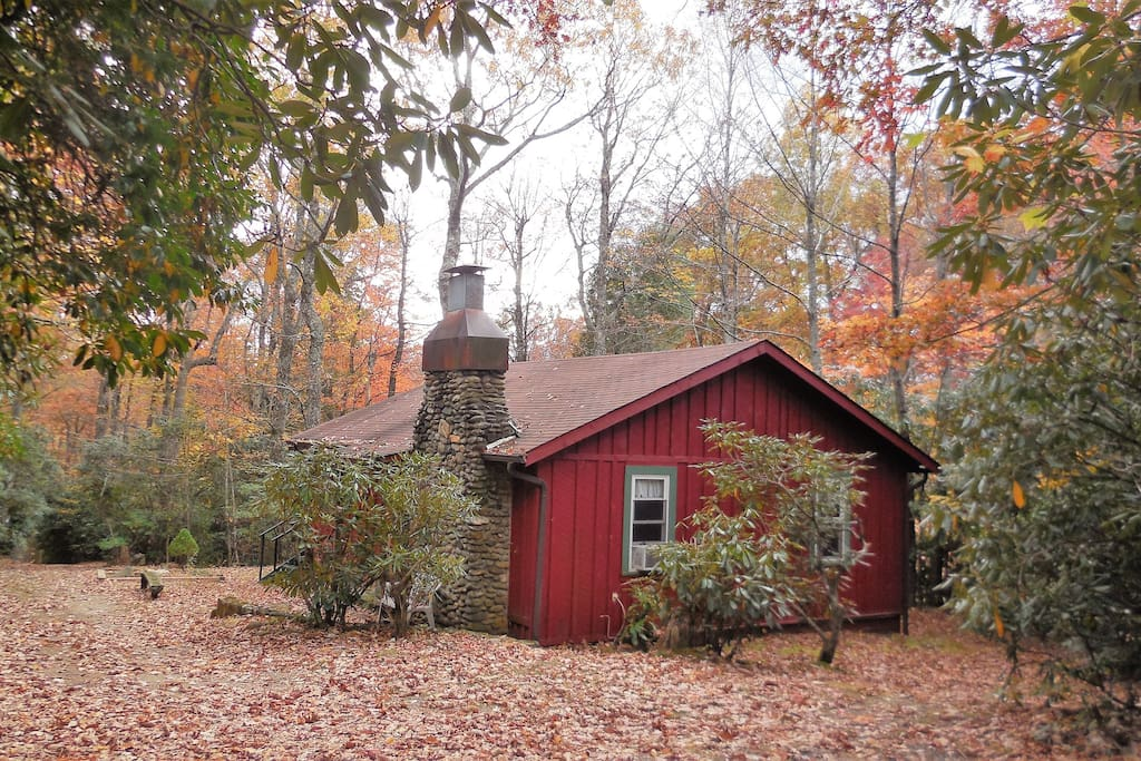 Nestled deep in the woods for privacy yet close to knob with 360 degree views