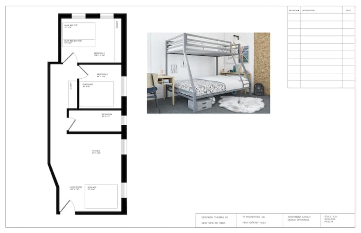 2 bedroom with washer&dryer 30+days rental