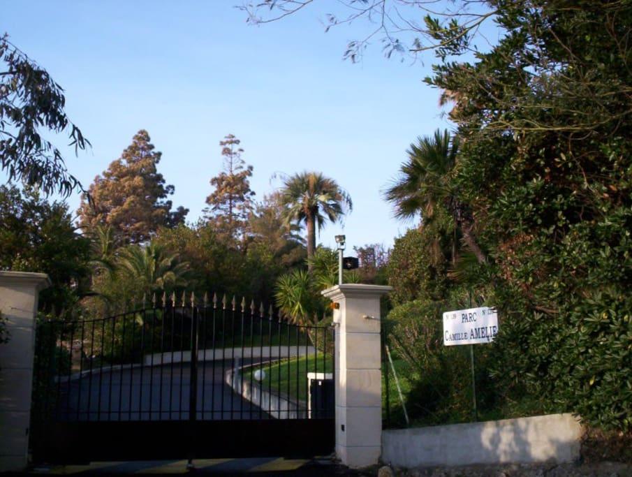 Entrée du parc Camille Amélie