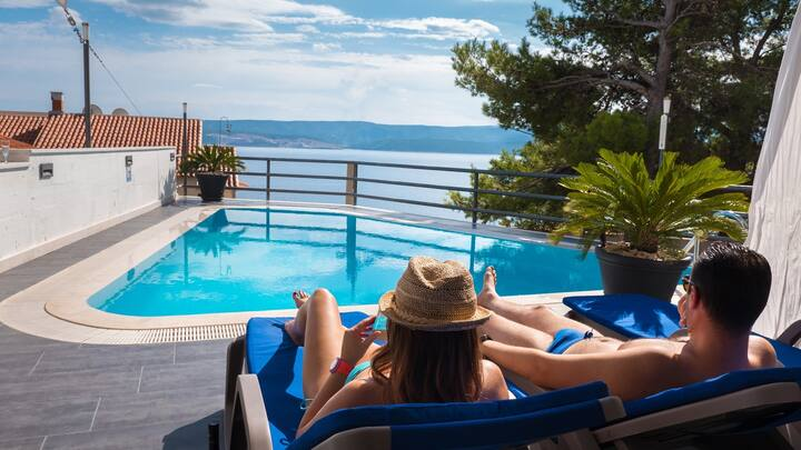 Villa Marina Croatia / Studio with Balcony and Sea View
