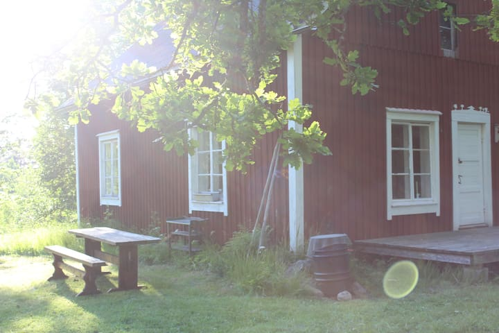 Cozy farm house in the middle of nature