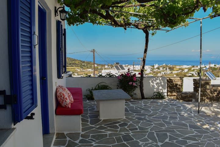 Traditional cycladic house in Apollonia, Sifnos
