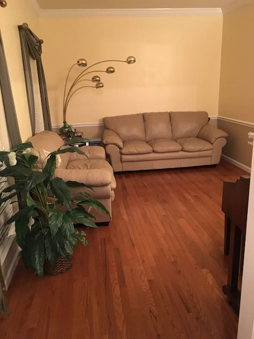 Living room - newly renovated hardwood floors
