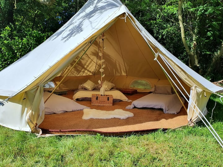 Beautiful Bell Tent Camping In The Peak District