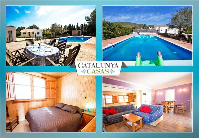 Charming Villa La Juncosa for 8 guests only 20km from the beach! - Costa Dorada - Villa
