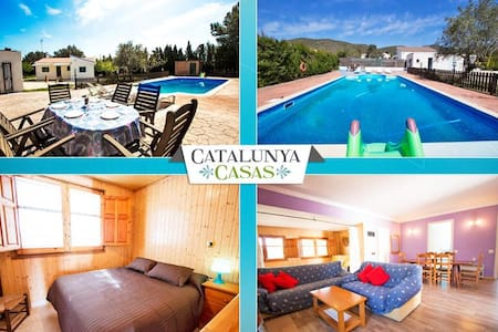 Charming Villa La Juncosa for 8 guests only 20km from the beach! - Costa Dorada