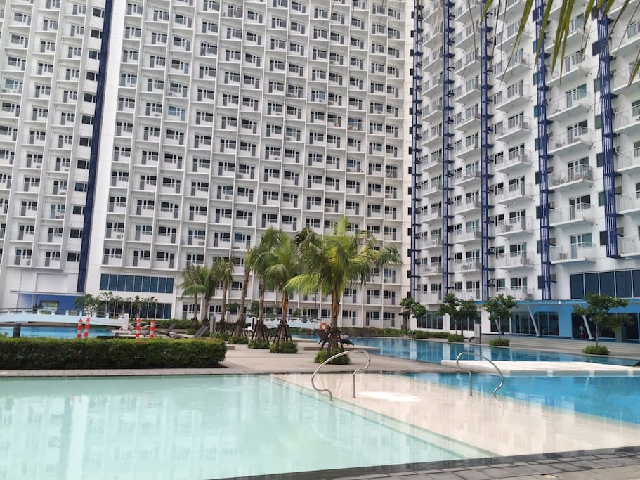 Pool Area on the same floor as the unit. Just steps from your door