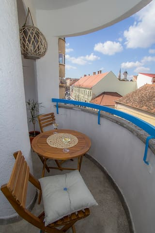 Cool Cluj Studio with Sunny Terrace