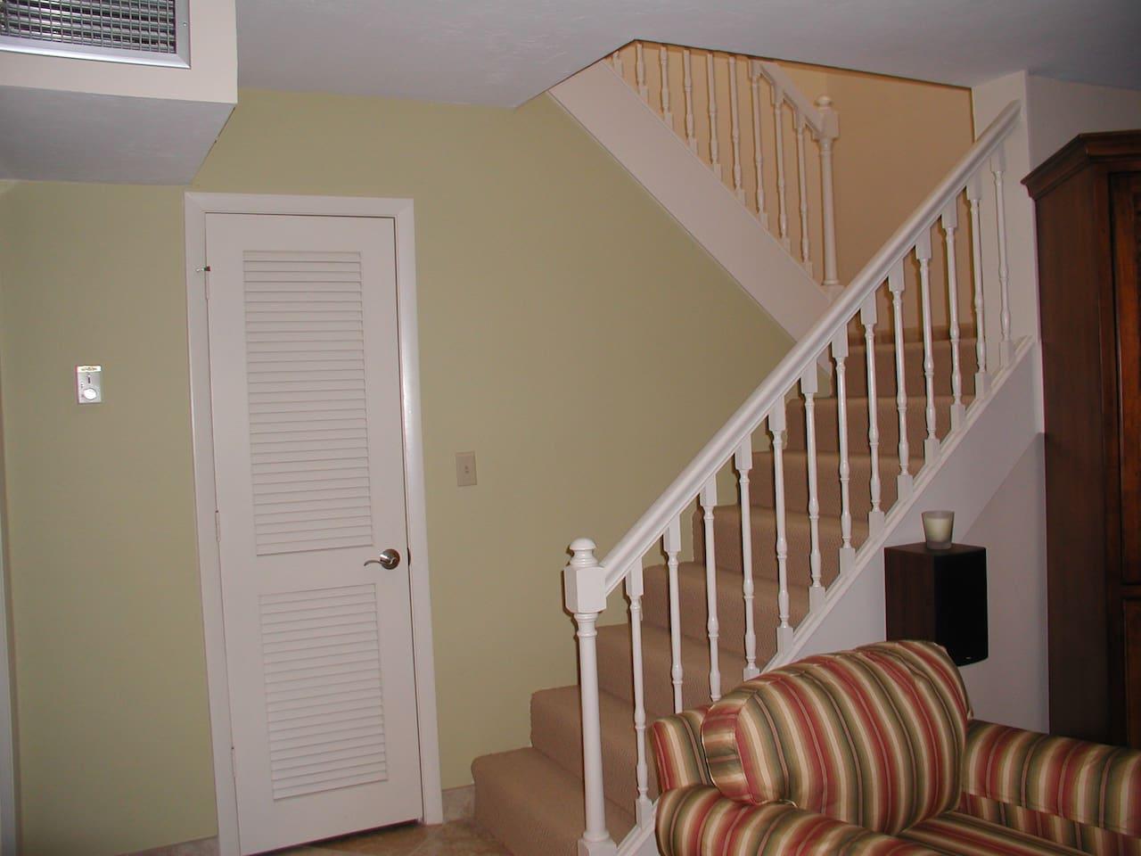 2 story~skylight at stairway