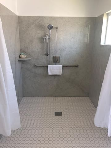 Brand New Renovated bathroom/shower for our guests.