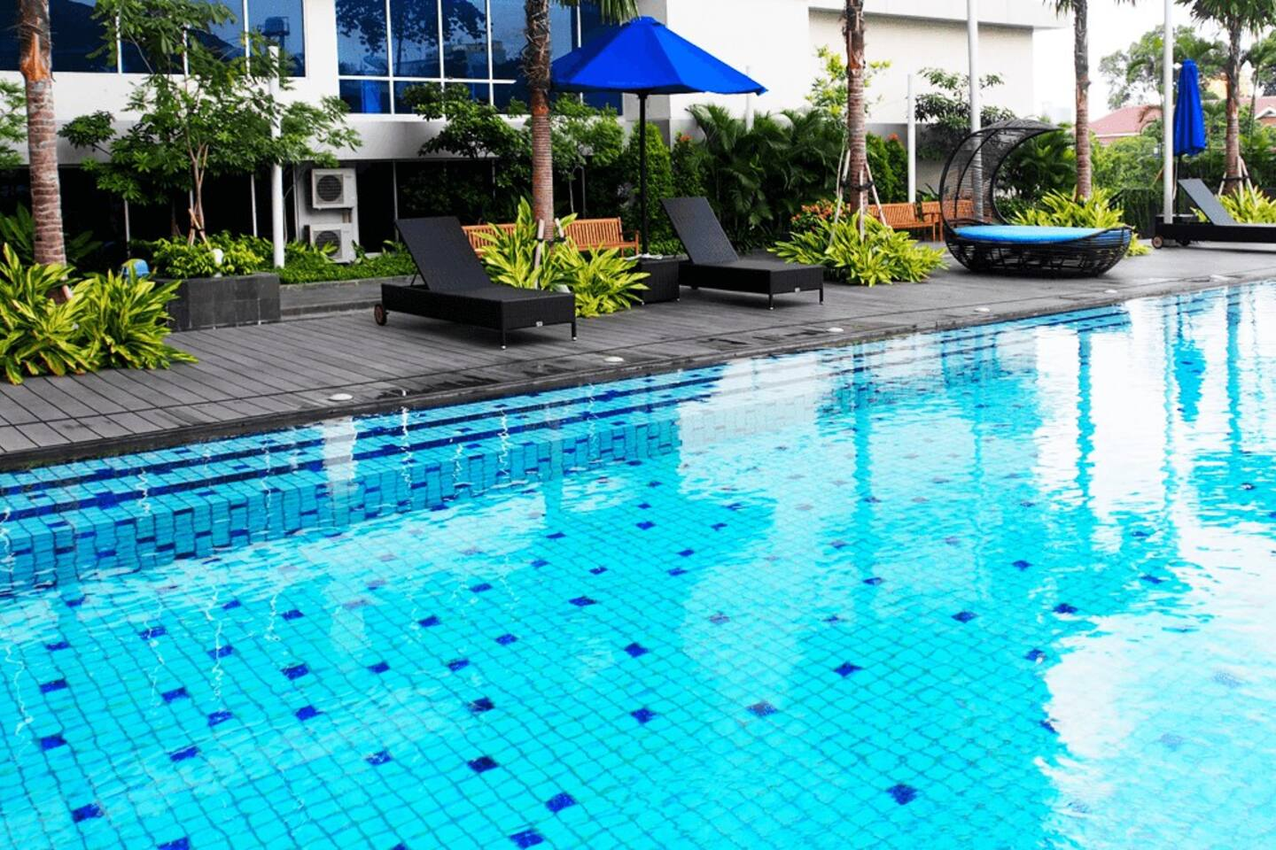 Swim or simply relax and read. @ Swimming pool on 1st floor.