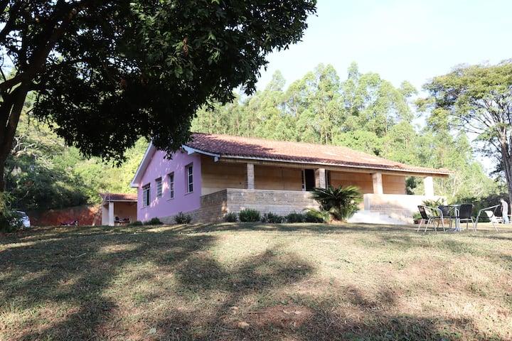 Casa rosa de fazenda- Refúgio da pandemia!!!!