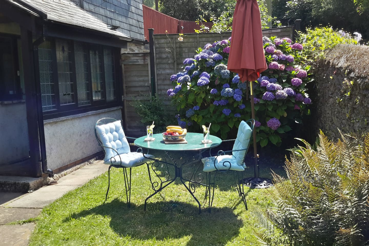 Garden and lawn (in summer includes table set and umbrella )