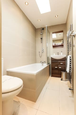 The bathroom will be freshly cleaned and shining when you arrive