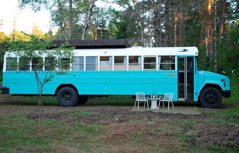 Off-grid Experience in a Northwoods School Bus