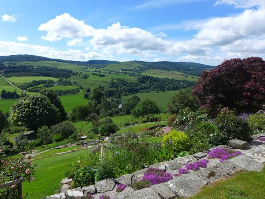 The view from the house looking towards Aberfeldy