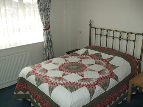 Large double room with off road parking.