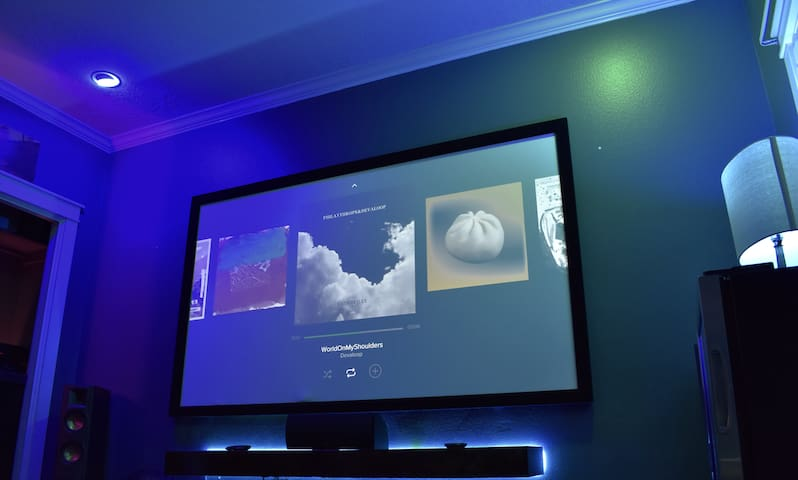 """100"""" HD movie screen with Dolby Atmos surround sound"""