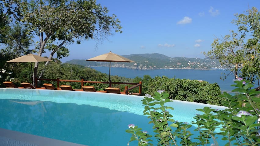 Ceiba quiet bay view retreat with private terrace