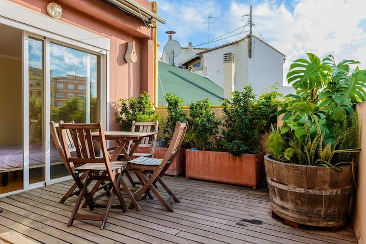 Chic Rooftop Terrace - WiFI