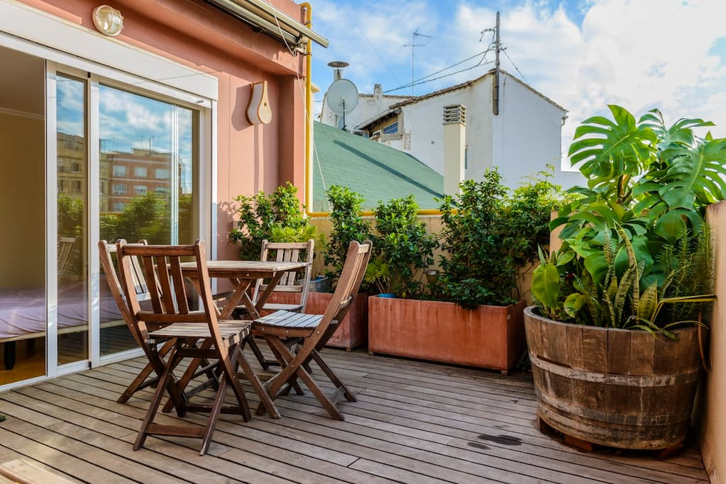 Chic rooftop terrace wifi appartements louer - Habitaciones en buhardillas ...