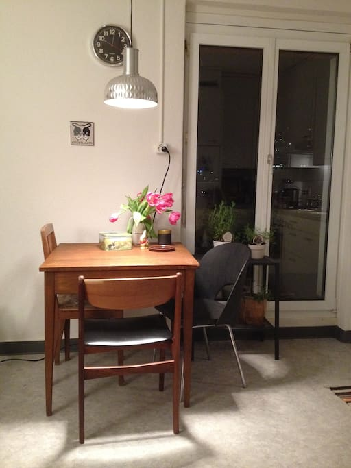 Kitchen with table and couch