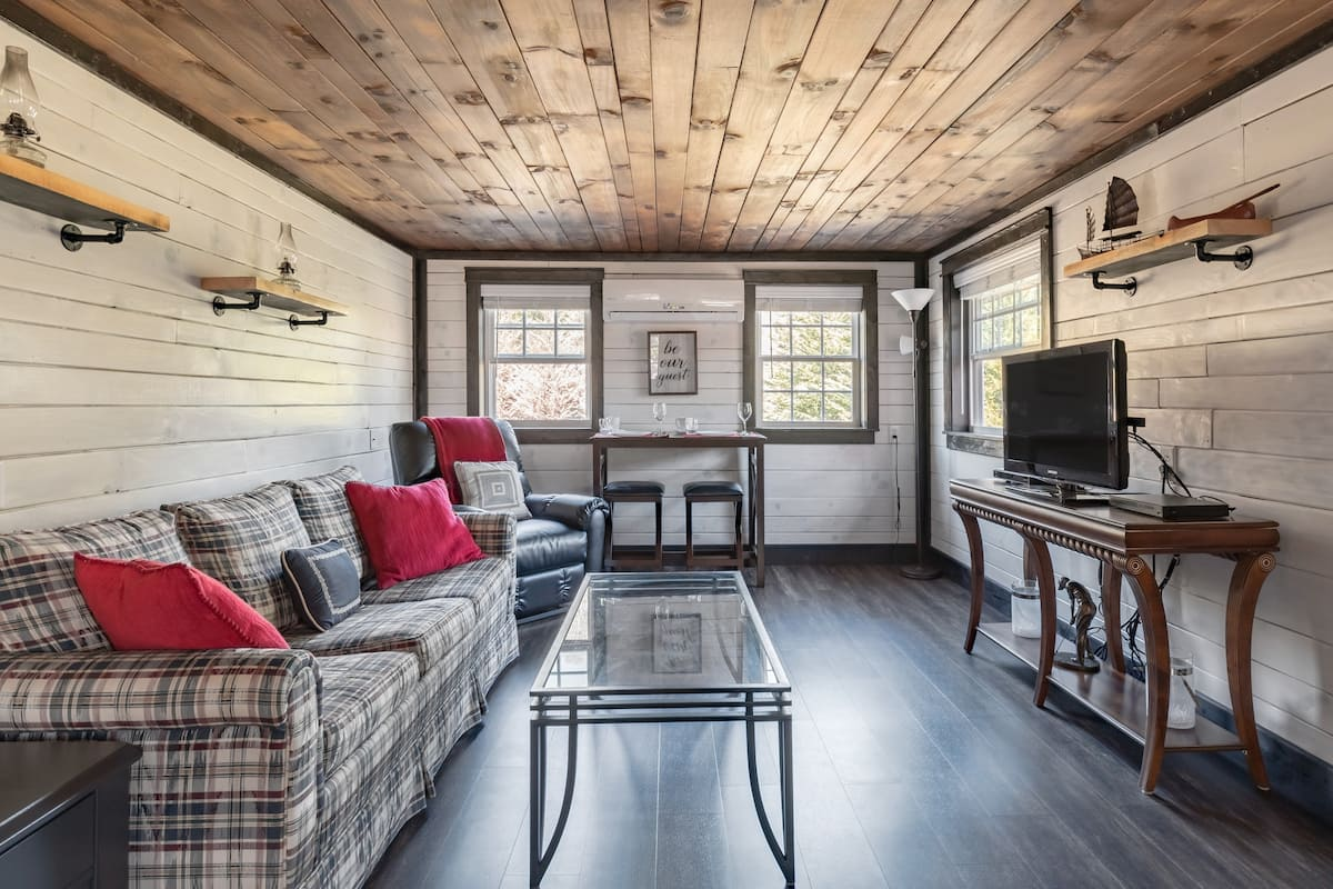 """Enjoy a """"staycation"""" at Creek Side Cabin in the Mountains!"""