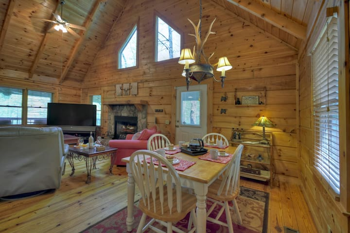 Eating area at this lovely Blue Ridge Cabin Rental