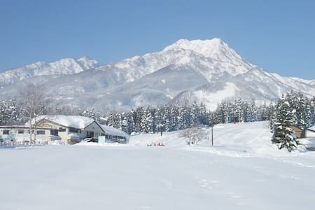 スキー、スノーボードの宿泊に!2DK、駐車場付き、アパートの一室! - Myoko - Apartamento