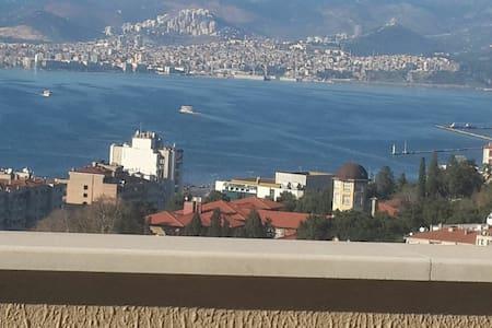 Barbeque joy in big terrace acrooss all İzmir Bay.