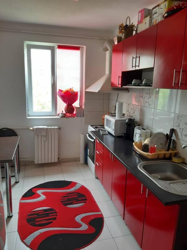 Apartamentul rosu de la mare
