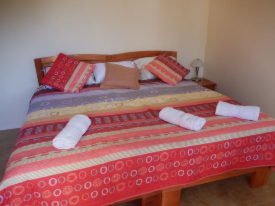 One King size bed or  two twin size beds with mountain view window