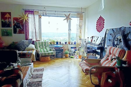 Spacious livingroom with amazing view over sunset! - Göteborg - Apartemen