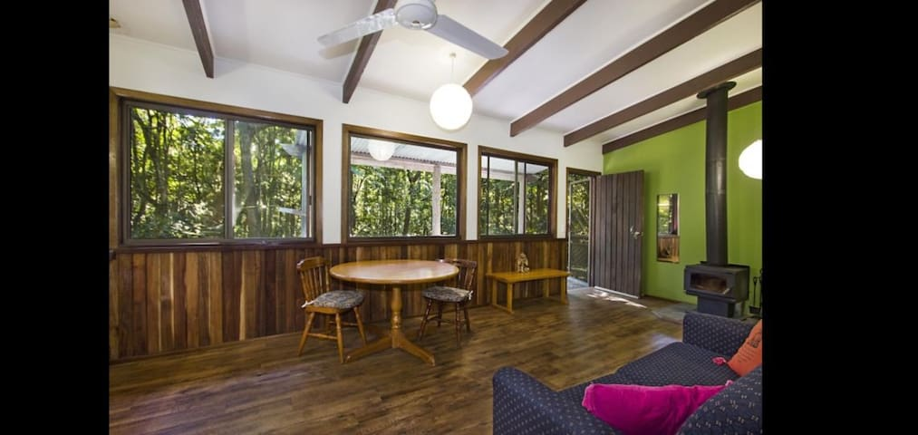 4 spacious Cabins at Solitude  rainforest retreat