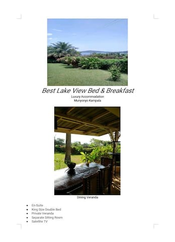Best lake view bed and breakfast Munyonyo