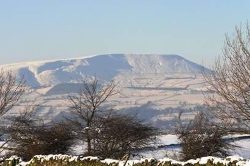 View of Pendle from lounge