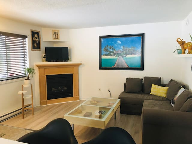 1 bed with parking,7 minutes to downtown. Sleeps 4
