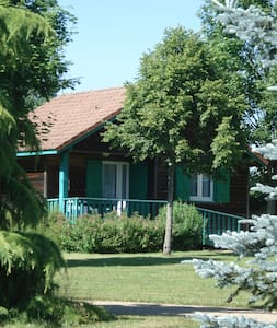 """Cabane Chalet """"Le bleuet"""" du Camping du Viaduc - Les Ancizes-Comps - Chalet"""