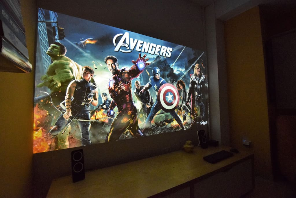 "Amazing 100-inch home cinema screen. ""We were 3 friends and we loved the big screen and Netflix to watch movies like go to the movies!"" Margaux April 2017"