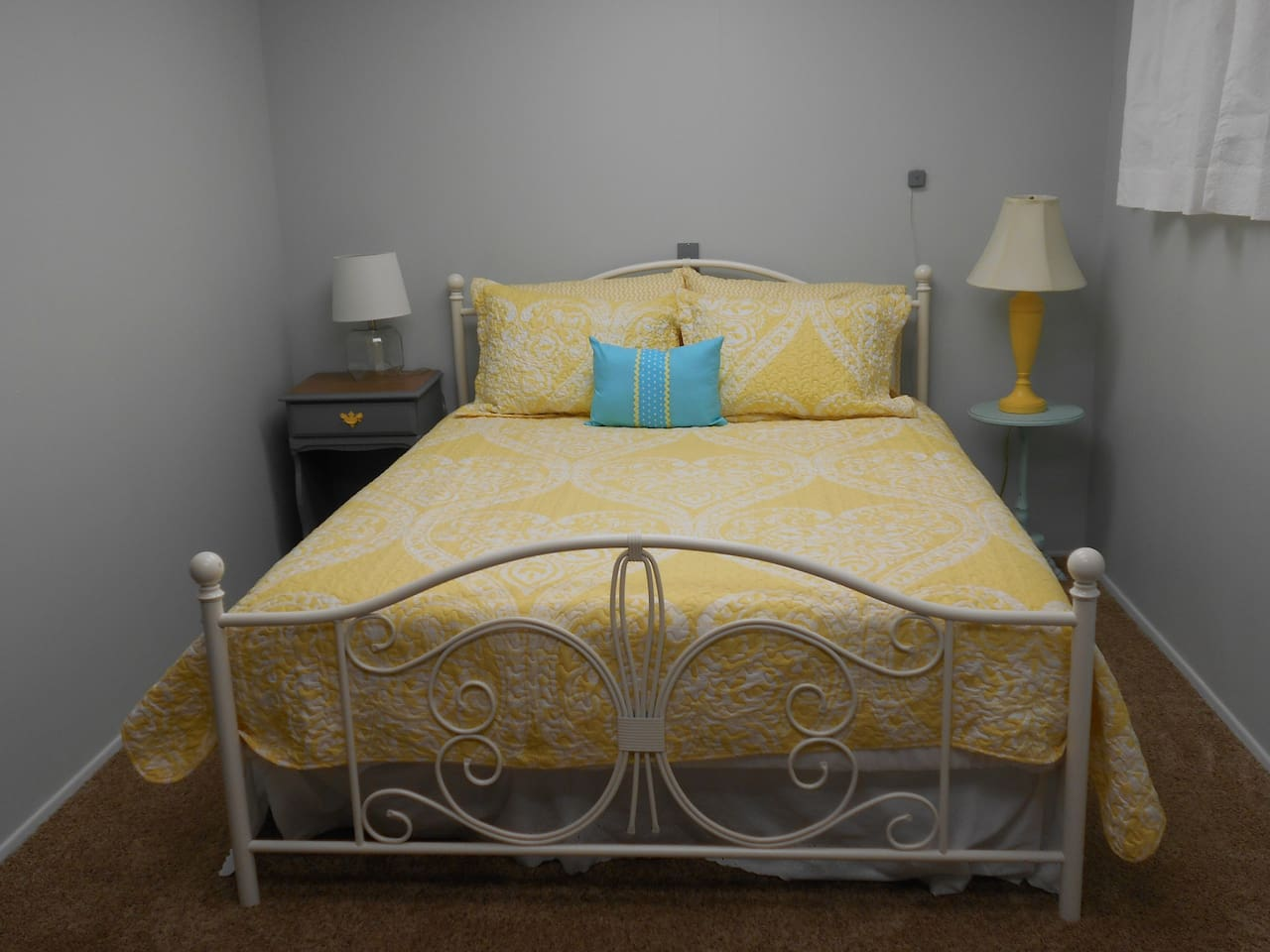 Cozy and quiet large bedroom, beautifully updated with queen sized bed, closets, and dresser.