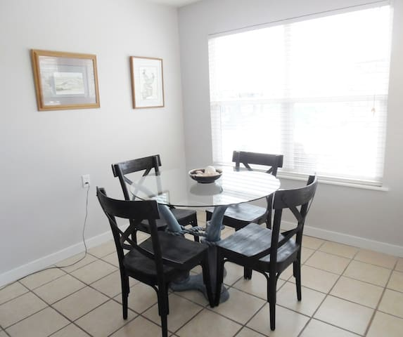 Bright welcoming dining room