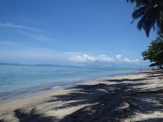 Tahiti, Paea-Dizneuf9, Le lagon à portée de main - Paea